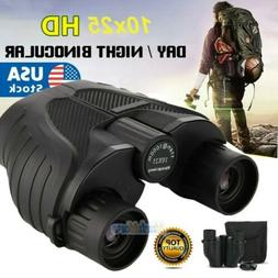 10X25 Zoom Binoculars with Night Vision Prism High Power Wat