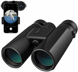 10X42 HD Binoculars for Adults with Low Light Vision Compact