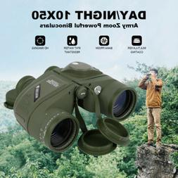 10X50 Day/Night Binoculars & Rangefinder Compass Waterproof