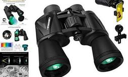 20 x 50 Binoculars for Adults, HD Professional Roof Prism Bi