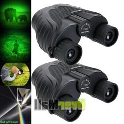 2x Day/Night Military Army 10x25 Zoom Ultra HD Binoculars Op