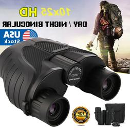 Day/Night 10x25 Military Zoom Powerful Binoculars Optics Hun