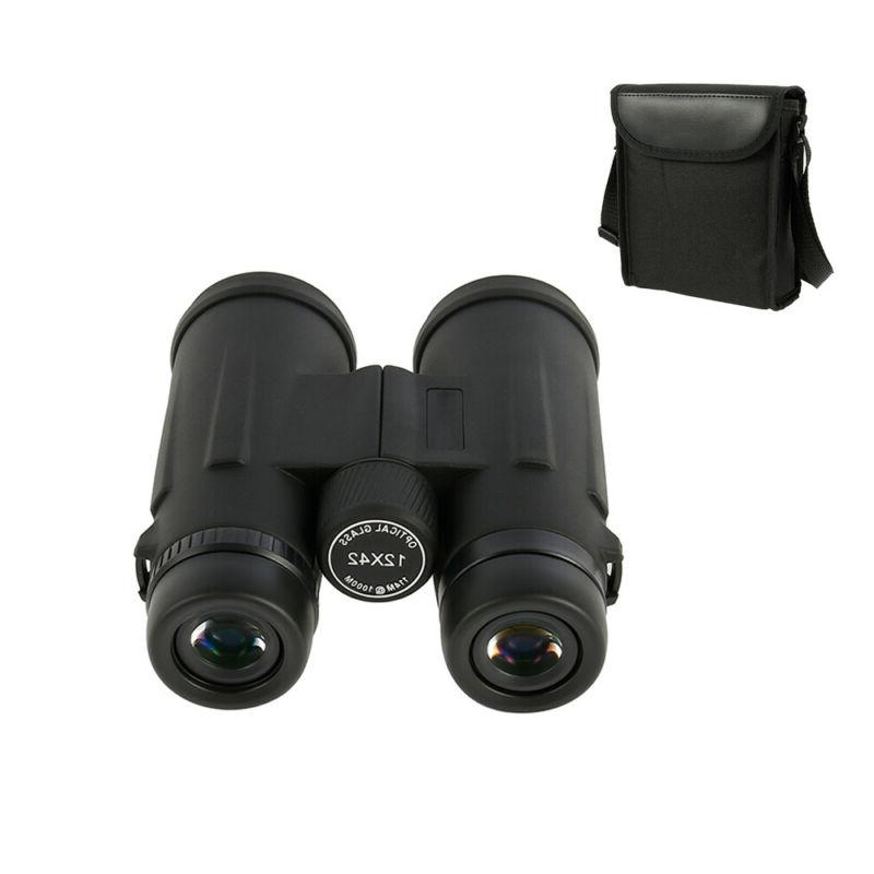 12X42 Small Compact Binoculars for Watching Outdoor Hunting Hiking