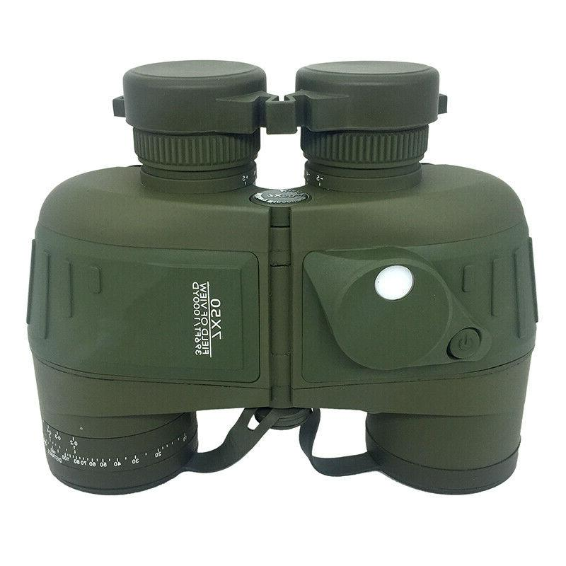 built in compass military binoculars floating waterproof