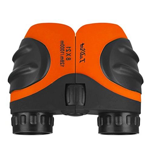 Luwint 8 X Kids Binoculars for Bird Scenery, Game, Mini Compact and Stabilized, Gifts Children