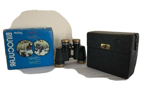 vintage 7x35 light weight prism binoculars original