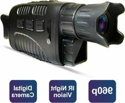 """Night Vision Goggles Monoculars 1.5"""" LCD Screen IR Infrared"""