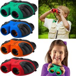 Shock Proof 8X21 Kids Binoculars Set W High Resolution Real