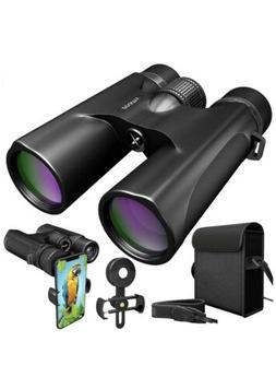 Waterproof Binoculars 10x42 For Adults. Lightweight Compact